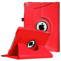 "Red iPad 9.7"" 2018 360 Degree Rotating Stand Protective Case - 1"