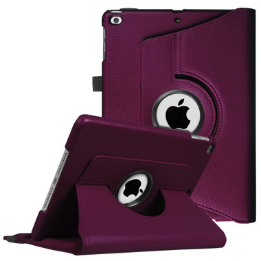 """Purple iPad 9.7"""" 2018 360 Degree Rotating Stand Protective Case - 1"""