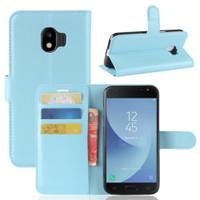 Aqua Litchi Wallet Case Card Slots For Samsung Galaxy J2 Pro (2018)