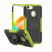 Green Defender Shock Proof Hybrid Kickstand Case for Oppo A73 - 1