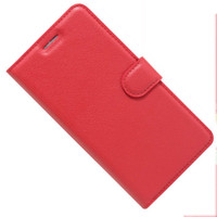 Red Premium Litchi Leather Wallet Stand Case for Oppo A73 - 1