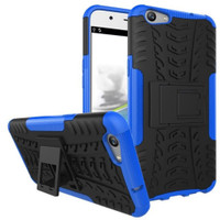 Blue Dual Layer Tough Hybrid Kickstand Case for Oppo A57