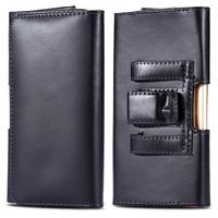 Black Galaxy S9 Premium Leather Belt Clip Pouch Holster Case - 1