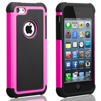 iPhone 5C Defender Case Cover - Hot Pink