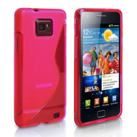 Samsung Galaxy S2 SII i9100 Hot Pink S-Line Curve Case