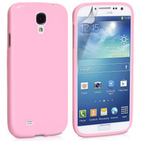 Light Pink Gloss Gel Case for Samsung Galaxy S4