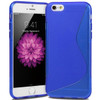 """Blue S Line Wave Gel Silicone Soft Case Cover Apple iPhone 6 / 6S 4.7"""" Cover"""