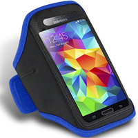Blue Active Sports Armband Case for Samsung Galaxy S5 Phone Cover