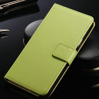 Green Samsung Galaxy Note 4 N9100 Leather Wallet Case Phone Cover - 1