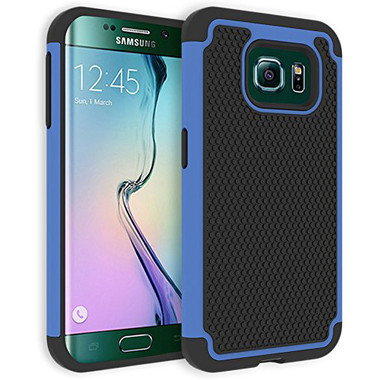 Blue Heavy Duty 2 in 1 Combo Cover For Samsung Galaxy S6 G920 Mobile Phone
