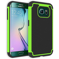 Green Heavy Duty Impact Rugged Shockproof Cover For Samsung Galaxy S6