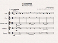 Woodwind Quintet - Shatter Me - Sheet Music