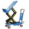 Tilting scissor lift table