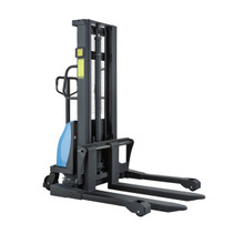 Semi-Electric Straddle Pallet Stacker lifting up to 1000kg - E-SDJ1016-BS
