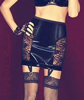 De Beaufort Wet Look Skirt