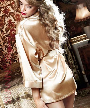 Gold Rush Satin Kimono | Stunning Lingerie