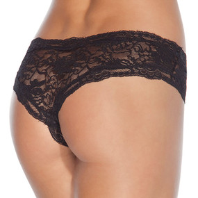 black crotchless lace underwear