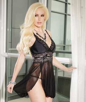 Empire Mesh Babydoll with Padded Cups