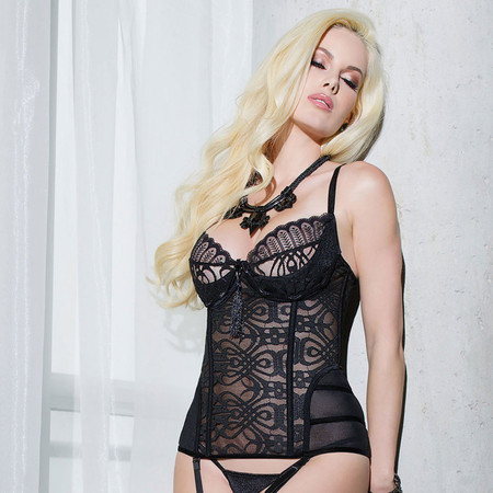 Black Lace Bustier Padded Cups | Stunning Lingerie