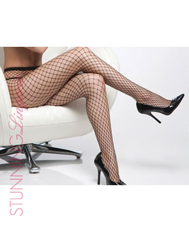 Diamond Black Net Pantyhose