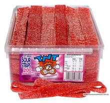 Strawberry flavoured AIT TNT sour straps