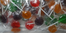 assorted mixed flat small lollipop