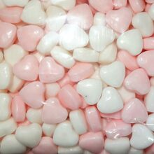 compressed candy pink & white hearts