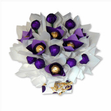 pretty in purple chocolate bouquet