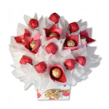 pink and white chocolate bouquet