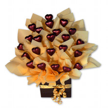 Apricot heart chocolate bouquet