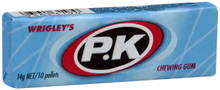 wrigleys single pack of PK blue chewing gum from confectionery world