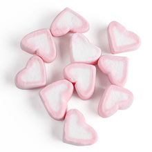 p[nk heart shaped marshmallow