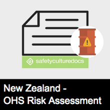 Hazardous Substances Risk Assessment Form - NZ