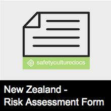 Risk Assessment Form - NZ