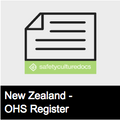 Worker Training Competency Induction Register - NZ