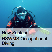 Occupational Diving HSWMS - New Zealand