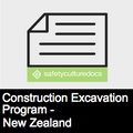 Construction Excavation Program - New Zealand