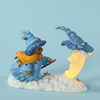 Cherished Teddies Witch and Moon Figurine - Lighted View