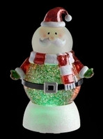 Santa LED snowglobe with swirling glitter