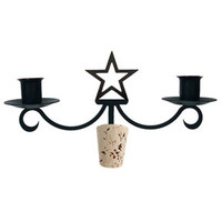 Taper Candle Candelabra Star