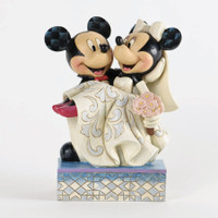 Jim Shore Mickey & Minnie Mouse Bride & Groom Wedding Cake Topper