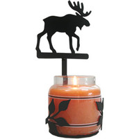 Wrought Iron Moose Jar Candle Sconce
