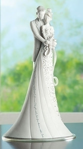Embrace Wedding Cake Topper from Gina Freehill