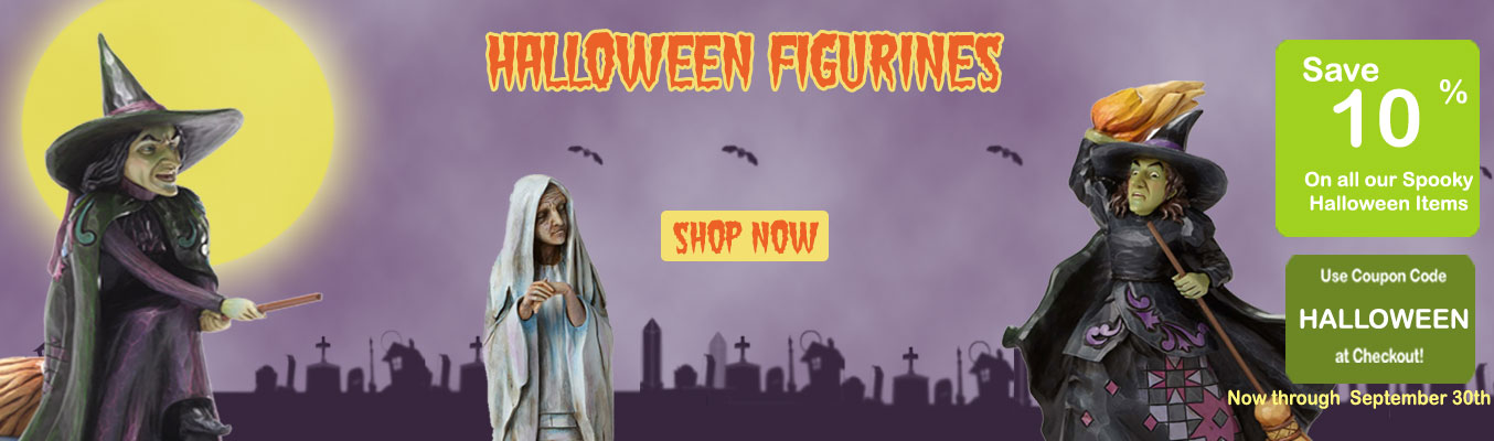 Halloween figurines 10% off, Shop now