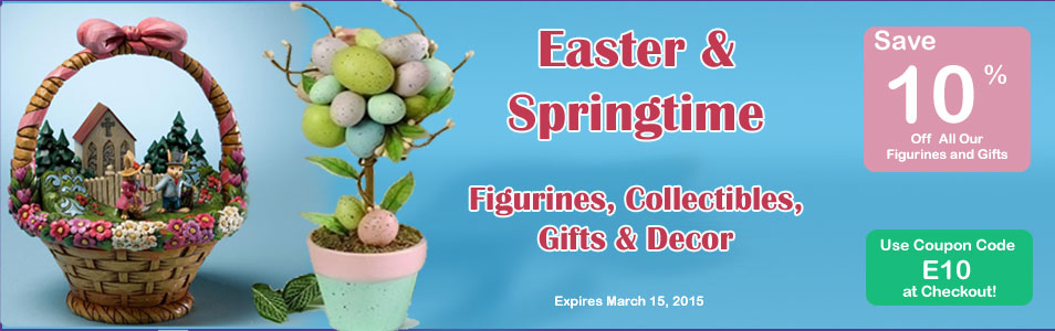 Save on Easter Collectibles, Figurines and gifts