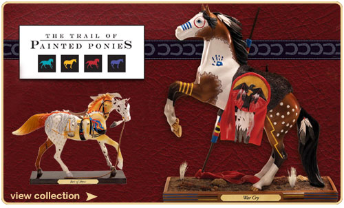 Trail of Painted Ponies Horse Figurines