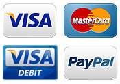 We accept Visa, Mastercard & Paypal
