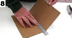 Use a metal ruler again to fold all the required parts cleanly. Always fold against the grain if possible.
