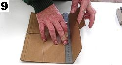 Fold the side flaps with ruler.