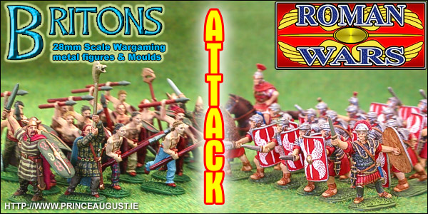 Roman Wars 28mm scale range of metal miniatures